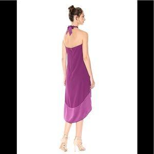 9351e0abb17 Trina Turk Dresses - TRINA TURK glow Carmel crepe halter gown plum 10